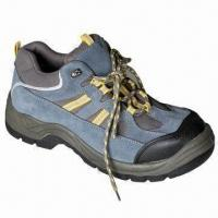 China Mens Hiking Boots with Steel Toe Protection and EVA Removable Insole on sale