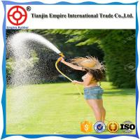 Wholesale 9.5m Nature Latex Expandable Garden Water Hose With Brass Metal Connectors 25FT red green rubber from china suppliers
