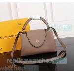 China Young Girl Top Clone LV handbag Light Tan Genuine Leather ladies bag Soft Shoulder Bag for sale