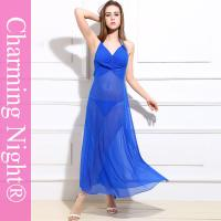Buy cheap Sexy Backless Long Night Lingerie Mature Women Transparent Night Dress from wholesalers