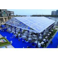 China Clear Fabric Aluminum Profile Wedding Marquee Tents Rustless Frame And Waterproof Cover on sale