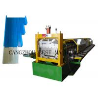 China Portable Metal Roofing Sheet Roll Forming Machine , Standing Seam Roof Panel Machine on sale