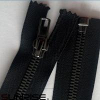 Wholesale metal YKK zippers leather brass metal zipper from china suppliers
