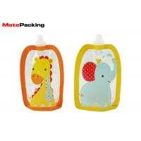 Wholesale BPA Free Spout Pouch Refillable Baby Food Squeeze Pouch With Spout Special Shape from china suppliers