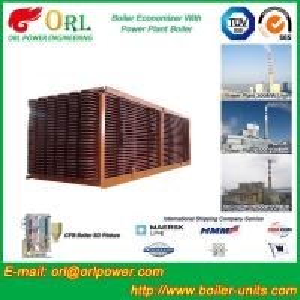 Quality Power Station Boiler Stack Economizer / Steam Boiler Economizer Tubes for sale