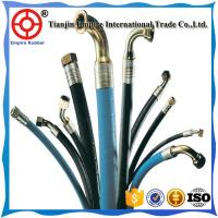 Wholesale SAE J517 1//2'' inch wire braided hydraulic rubber hose for Injection molding machinery from china suppliers