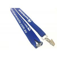 Metal Clip Safety Custom Breakaway Lanyards Woven Printed For Sports Game
