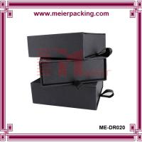 Wholesale luxrious belt hard box slide rigid box for gift top grade paper box ME-DR020 from china suppliers