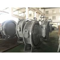 China DN1200 Size Double Flanged Gear Box Operator Marine Butterfly Valve on sale