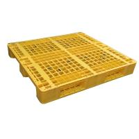 Wholesale Euro type HDPE single faced grid 9 feet plastic pallet from china suppliers