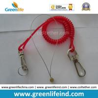Translucent Red 2.3mm Safety Lanyard Spring Coil Cable for sale