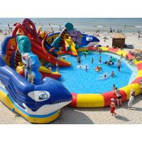 Wholesale customized giant octopus water park,dolohin animal inflatable water park with big pool toys from china suppliers