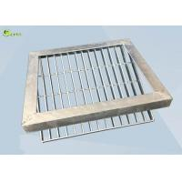 China Low Carbon Steel Bar Grating Anti Skid Sawtooth Burglar Drain Trench Cover on sale