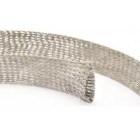 China Automobile Tinned Copper Braided Sleeving , Copper Foil Braided Shield Sleeve For Wire Harness on sale