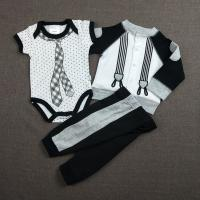 Black 0 - 9M Cool Baby Boy Clothes Casual Style Knitted Type OEM Service