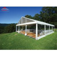 Wholesale Fire Retardant 20 X 20M Wedding Party Tent With Glass Wall / Colourful Cover from china suppliers
