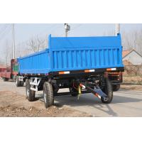 China hot sales 4 wheel 10 ton tandem axle agriculture farm tractor dump tipping trailer for sale