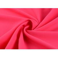 China Superfine Damask Silk Polyester Chiffon Fabric Elastic Plain Dyed 50d * 50d on sale