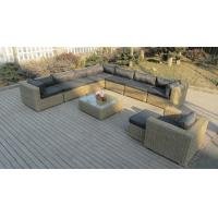 Buy cheap Round rattan wicker sectional outdoor sofa set with comfortable cushion from wholesalers