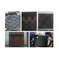 Wholesale Fiber-Glass Asphalt Roofing Shingles / 5 Types 1000mm × 333mm For Wood House from china suppliers