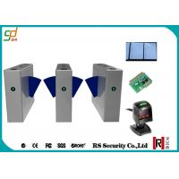 Wholesale Bi - Directional Flap Barrier Gate , RFID Barcode Reader Turnstile from china suppliers