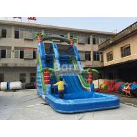 Wholesale Summer Palm Tree Inflatable Outdoor Water Slide With Printing from china suppliers