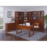 Wholesale Nanmu solid wood Home office study room furniture set by Tall storage bookcase cabinet and office reading desk Chair from china suppliers