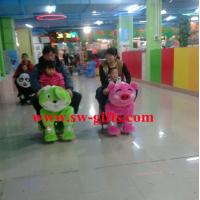 Wholesale Funny kid toys motorized plush riding animal ,animal scooter in mall from china suppliers