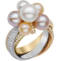 Wholesale Freshwater Pearl Rings Silver With Two-tone Plated , Fashion Rings For Women from china suppliers