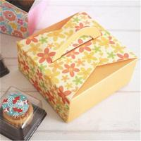 Wholesale Customized Take Away Cake Cardboard Boxes Folding With Handle Full Color Printing from china suppliers