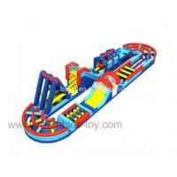 Wholesale Multielement PVC Tarpaulin Inflatable Obstacle Course With Boot Camp Wipeout from china suppliers