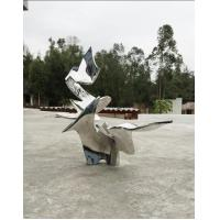 China Abstract Customized Metal Statue , Outdoor metal Stainless Steel Sculpture for sale