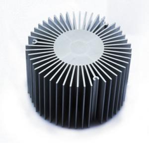 Wholesale Led Aluminium Heatsink Extrusions , Silvery / Black Anodized Extruded Aluminium Profiles from china suppliers