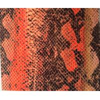 Wholesale Color Fastness Leather Snakeskin Vinyl Fabric For Shoes / Women Handbags from china suppliers