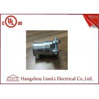 China Zinc Material Flexible Conduit Fittings EMT To FMC Type , Screws Connect on sale