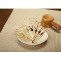 Wholesale Customized Heart Shaped Decorative Bamboo Skewers Food Grade Eco friendly from china suppliers