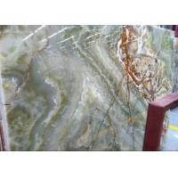 Customized Shape Green Onyx Marble Tile , Natural Stone Kitchen Floor Tiles for sale