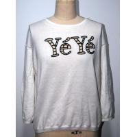 Wholesale Combed Cotton Floral Print Sweater With Letters Embroidery BGAX16290 from china suppliers