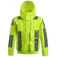 Wholesale Waterproof Outdoor Safety Work Clothes Reflective Raincoat for high speed road from china suppliers