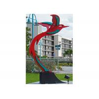 Wholesale Custom Modern Painted Public Art Stainless Steel Flying Bird Sculpture from china suppliers