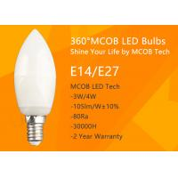 Wholesale MCOB 4W Dimmable C35 E14 LED Bulbs, 40W Incandescent Bulbs Equivalent, Candelabra Bulbs, 440lm, 180° Beam Angle, Warm Wh from china suppliers
