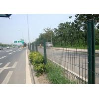Quality Green Powder Coated Steel Wire Fencing Security For Highway , 48mmx1.0mm Size for sale