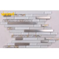 Wholesale Heat Resistant Stainless Steel Glass Tile With Flower Mosaic Patterns from china suppliers