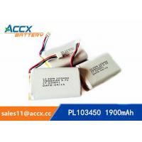 Wholesale PL103450 1900mAh 3.7V lithium battery with PCM from china suppliers