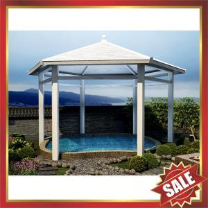 Buy cheap garden park villa hotel wood style Aluminium alloy metal gazebo pavilion kiosk pergola-beautiful sun shelter! from wholesalers