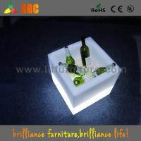 Wholesale Square PE Plastic LED ICE Bucket 16 Colors For Party / Shop / Wedding from china suppliers