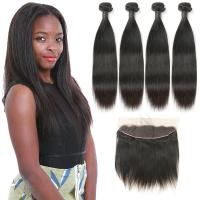 Wholesale Soft 9A Indian Human Hair Bundles , Virgin Indian Hair Closures Bleached Knots from china suppliers