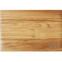 China Membrane Press Wood Grain Laminate Roll , Cabinets Wood Effect Vinyl Film on sale