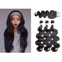 Wholesale Queenlife Body Wave Weave Bundles With Closure Machine Double Weft from china suppliers