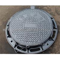 China Traditionally manufactured ductile iron manhole cover with frame from china on sale